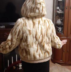 Новая, шубка- куртка, иск.мех