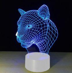 Lamp 3D (νυχτερινό φως) Tiger δωρεάν αποστολή