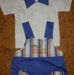 Set (T-shirt + shorts) for boy 92 cm new