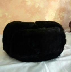 New sheepskin fur hat