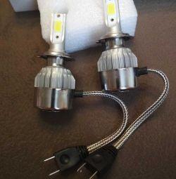 H7 Led. Lămpi LED cu luminozitate ridicată.