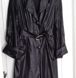 light black trench coat (cloak)