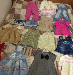 2 ila 4 yaşındaki kızlar için elbiseler