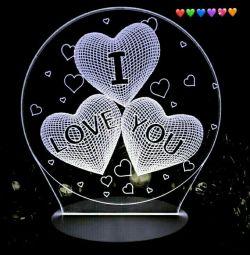 3D Nightlight I love you!