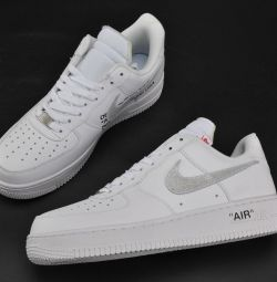 NIKE AIR FORCE 1 LOW WHITE NEW