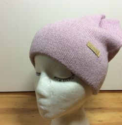 Модная осенняя шапочка с ушками Киса,53-57,арт 267