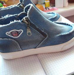 Ботиночки джинс,33