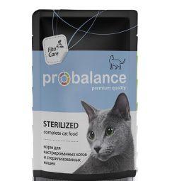 Влажный корм ProBalance Sterilized для кошек
