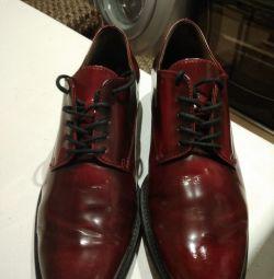 Шикарные кожаные брендовые туфли!!!