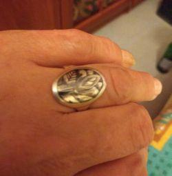 Перстень серебро 18р.+подарок