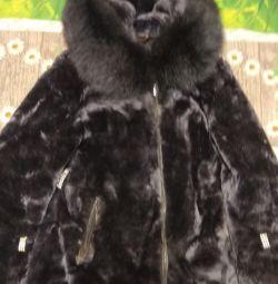 Γυαλιστερό παλτό με μέγεθος 46-48