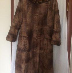 Coat dintr-o piele naturala, demi-sezon