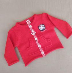 Geacă tricotată uni 0-3 luni. Tuk-tuk