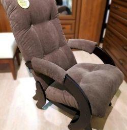Крісло-гойдалка веллюр
