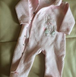 Warm overalls for girls 6-12 months