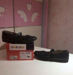 Pantofi școlari din piele p.34 (Spania) pentru fată
