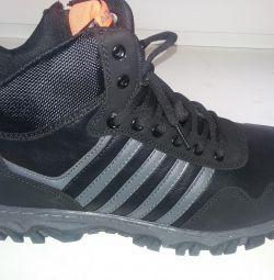 Ανδρικά πάνινα παπούτσια χειμώνα