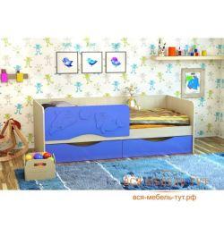 Κρεβάτι Dolphin-2 1,6 MDF (Belford / αραβοσίτου)