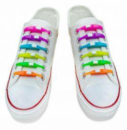 Silikon ayakkabı bağcığı