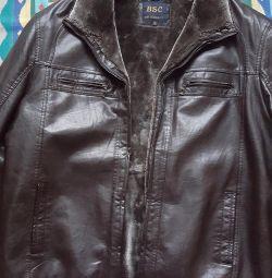 Μπουφάν, παλτό από δέρμα προβάτου για άνδρες