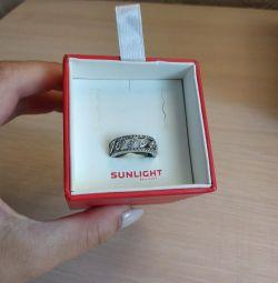 Ασημένιο δαχτυλίδι με μέγεθος κυβικού ζιρκονίου 16