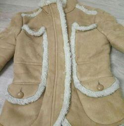 Geacă de mână de palton de oaie