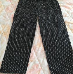 Pantaloni ușori de vară p 50-52 cu puncte mici de polka