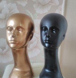 Манекены головы женские с шеей