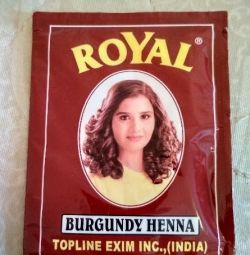 Henna-hair dye. Exchange