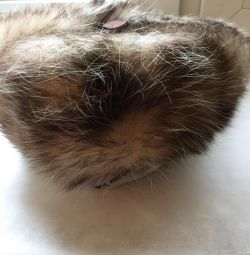 Șapcă nouă cu opossum cu cască
