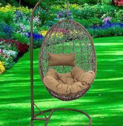 Askılı sandalye kahverengi