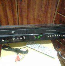 Το DVD VHS διαβάζει ταινίες και δίσκους