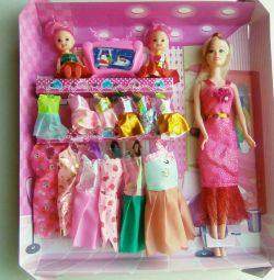 Σετ 3 κούκλες με ντουλάπα