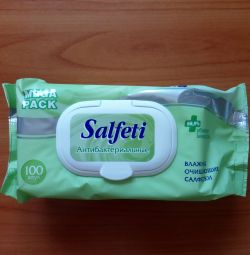 Σαμπουάν με αντιβακτηριακά υγρά μαντηλάκια Salfeti 100pcs