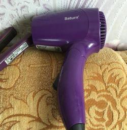 Saç kurutma makinesi ve ütü