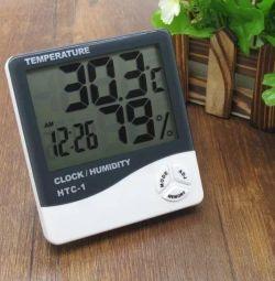 Термометр + Гигрометр + часы