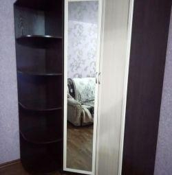 Grătar de colț cu oglinzi. + Rafturi + dulap cu o singură ușă