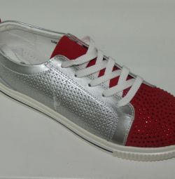 I will sell natural, leather sneakers