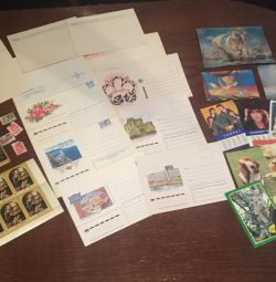 Soviet stamps, envelopes, overflow calendars