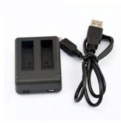 Φορτιστής USB για 2 μπαταρίες GoPro 4 3+