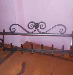 forged coat rack