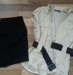 Skirt (MANGO) and blouse