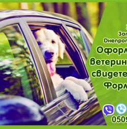 Свидетельство форма 1, ветеринарный паспорт нового