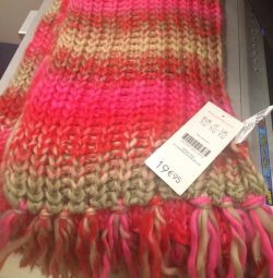 Knitted scarf is very beautiful