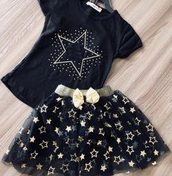 Costume new skirt and t-shirt