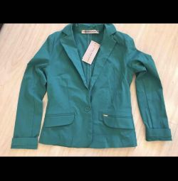New jacket / jacket turquoise color 44-46