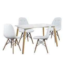 SET TABLES 5T TABLE MINIMAL 120X80-COSY WHITE