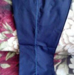 New half-woolen trousers р.58