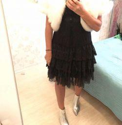 Γαλλικό φόρεμα με δαντέλα βράδυ 44/46