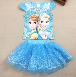 Costume for a girl Frozen Fever